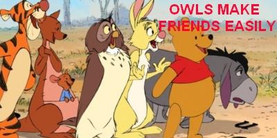 Winnie the Pooh - owls in cinema
