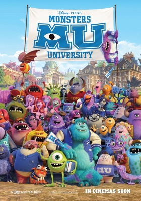 Disney Pixar releases new Monsters University poster