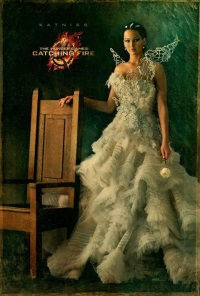 Jennifer Lawrence appears as Katniss Everdeen in new Hunger Games: Catching Fire poster