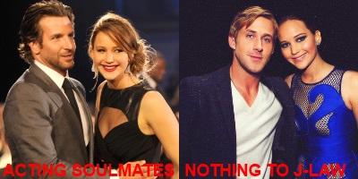 Bradley Cooper, Ryan Gosling and Jennifer Lawrence